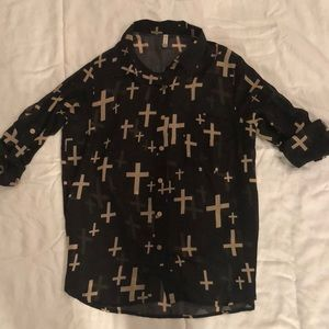 Black cross shirt